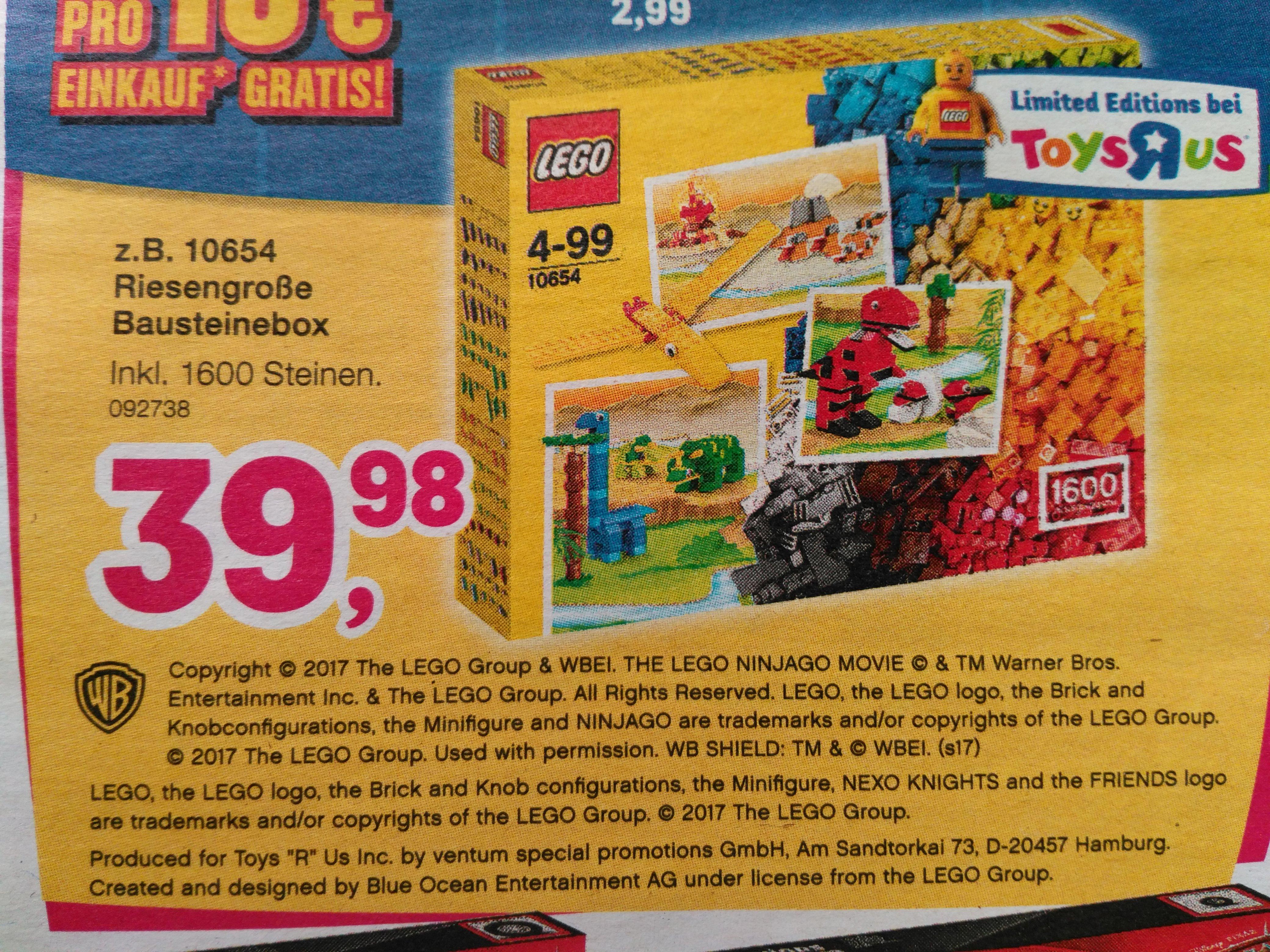 """[Offline Toys""""R""""Us]  LEGO Classic - 10654 XL Bausteine-Box"""