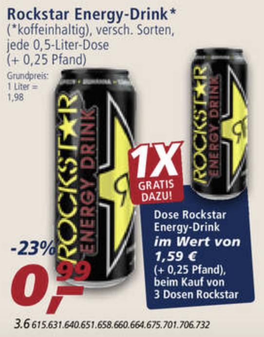 [Bundesweit] Real - Rockstar Energy Drink für 0,75€