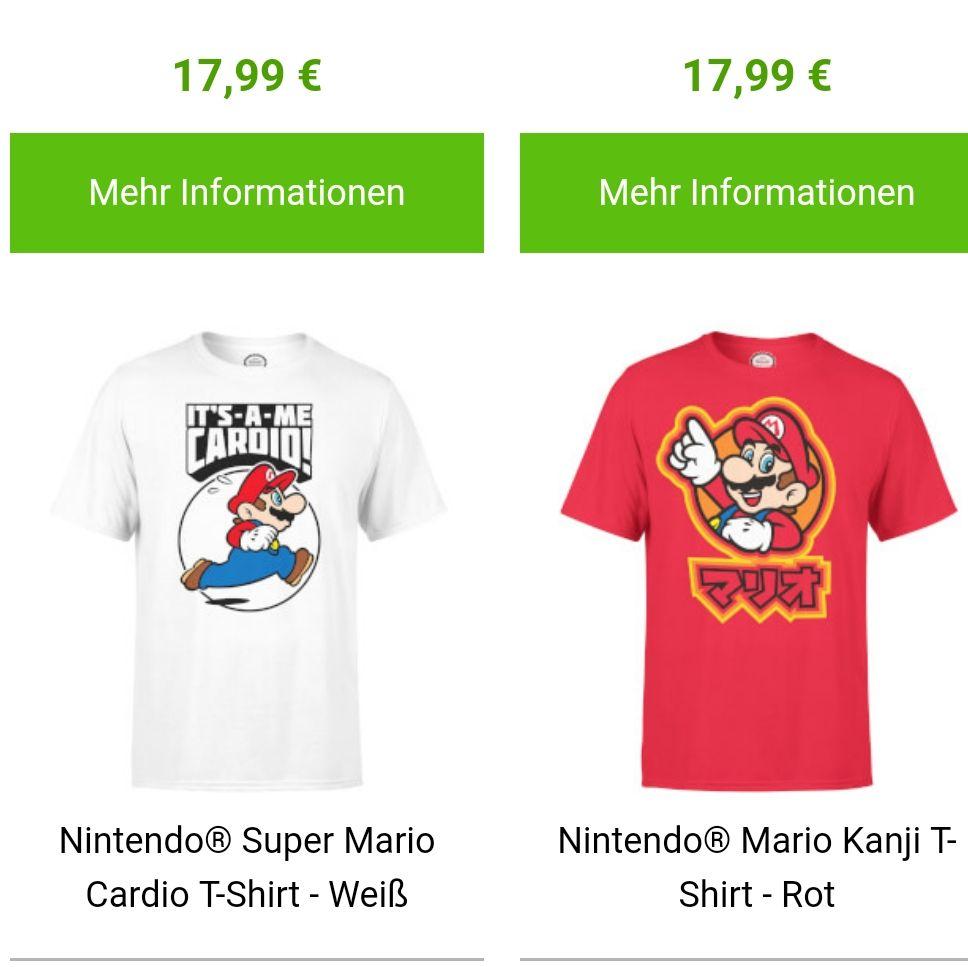 2 nintendo Tshirts  für 22€  versand gratis