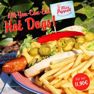 Hot Dogs All You Can Eat für nur 11,90€ bei Miss Pepper American Restaurants am 20. & 21.11.2017