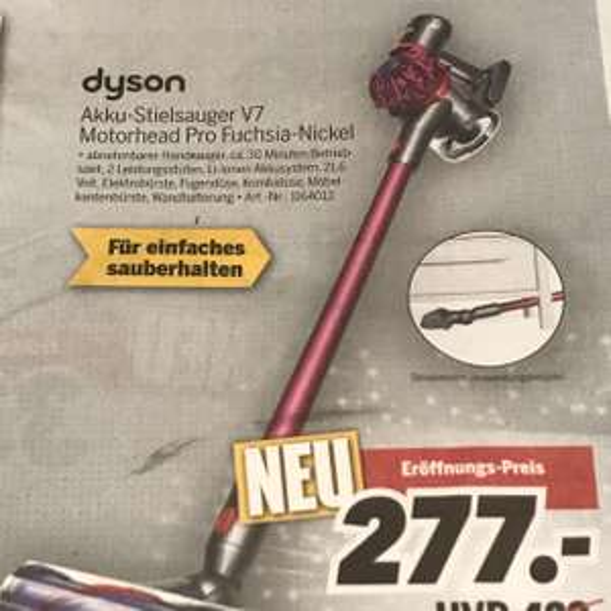 [lokal] Dyson V7 Motorhead Pro MEDIMAX Glauchau/Gera/Zeitz