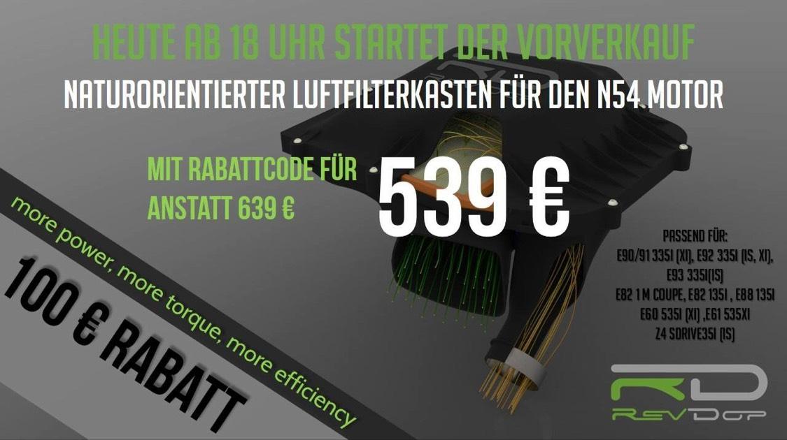 Luftfilterkasten für BMW N54 Motoren, 16 PS mehr Leistung & Drehmoment 25 Nm