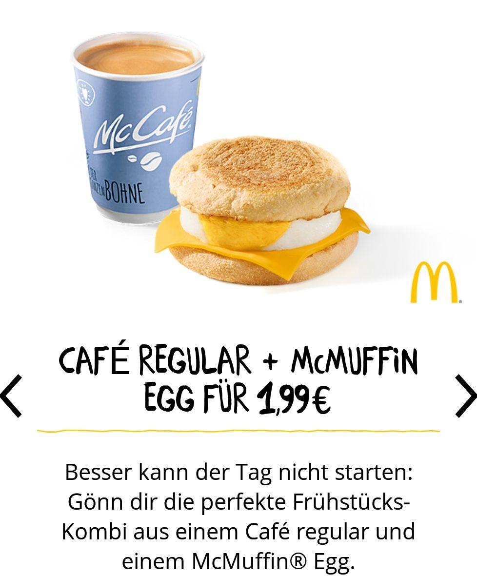Kaffe klein und mcmuffin Egg für 1.99€ bei McDonald's