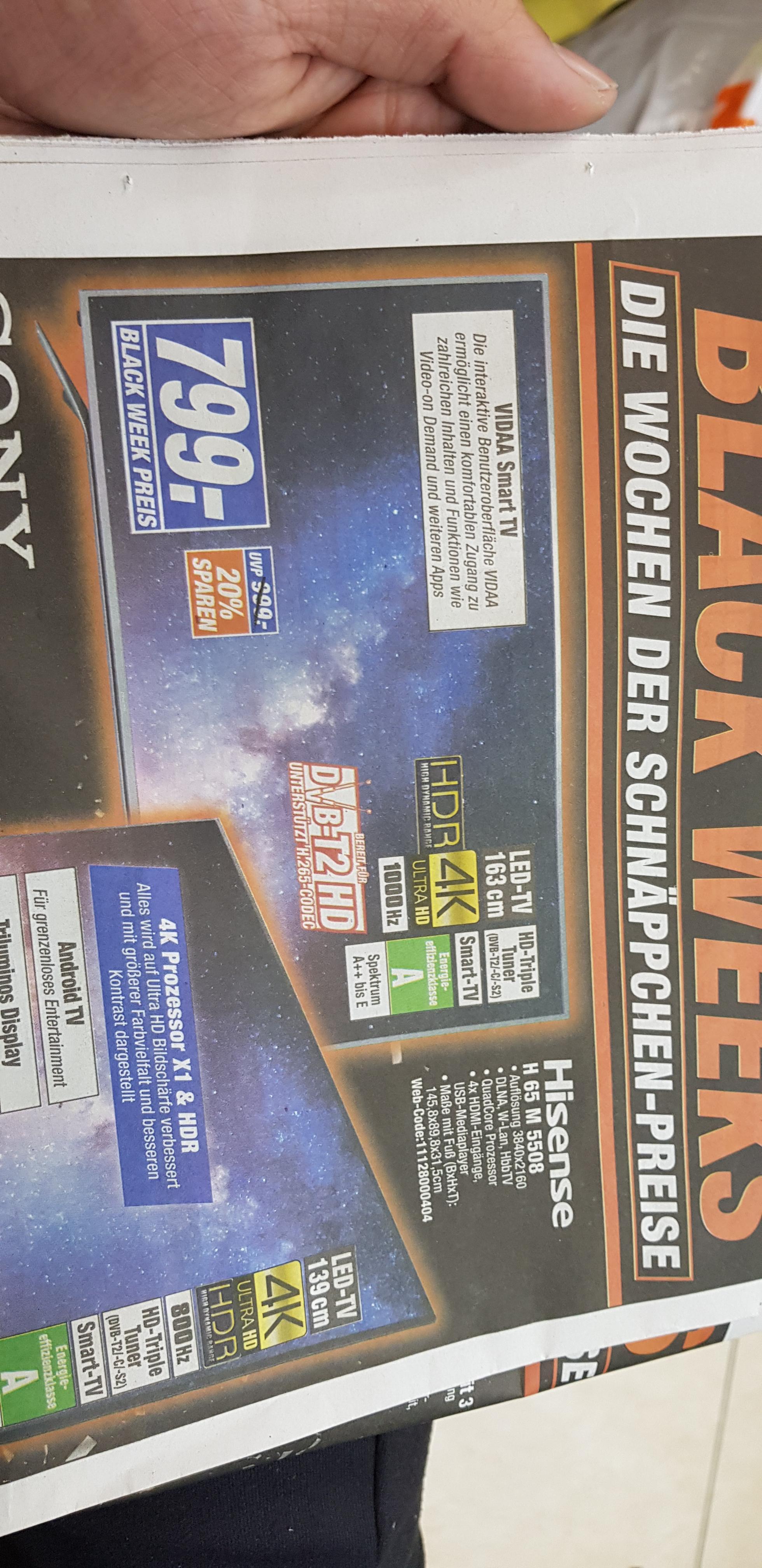 Hisense 65 Zoll Fernseher 4k smart tv