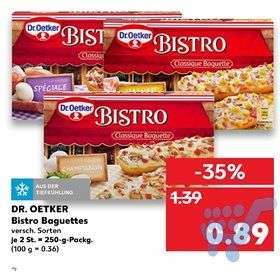 Dr. Oetker Tiefkühlkost Bistro Baguette (2 Stck.)@Kaufland -0,40€ Marktguru Cashback