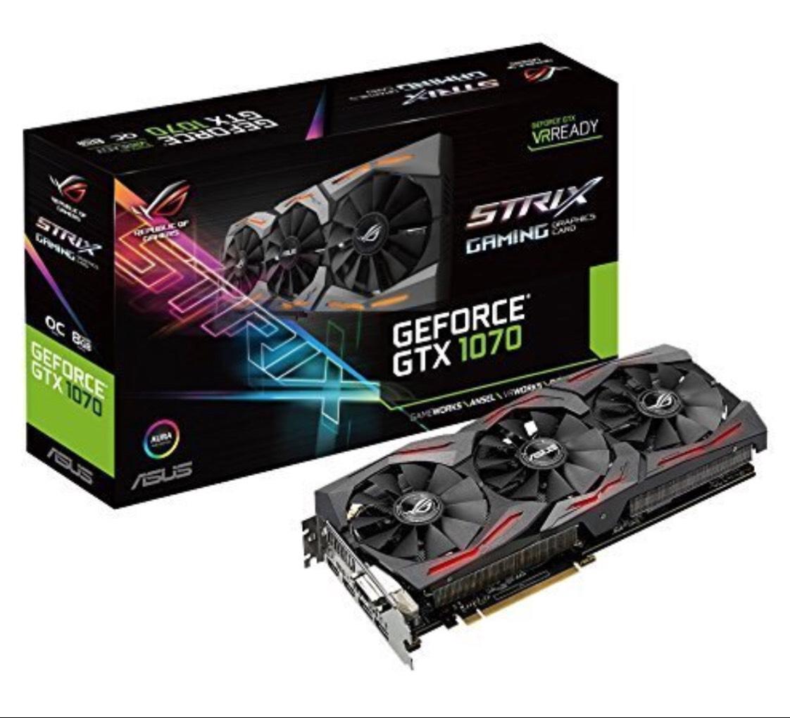 [AMAZON] ASUS ROG Strix GeForce GTX1070-O8G-GAMING