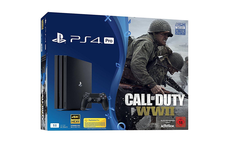 PlayStation 4 Pro - Konsole (1TB) inkl. Call of Duty: WWII   Amazon.de