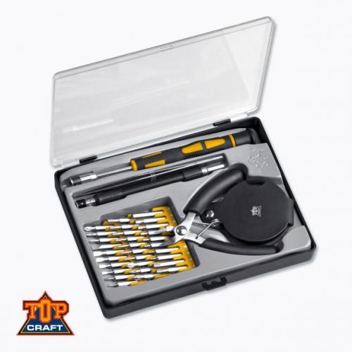 Top Craft™ - 36-tlg. Feinmechanikersatz (30 Bits,Zange,Pinzette,Lupe,...) für €7,99 [@OFFLINE Aldi-Nord]