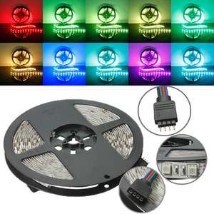 5M RGB Non-Waterproof 300 LED SMD 5050 LED Strip Light DC 12V   Banggood.com