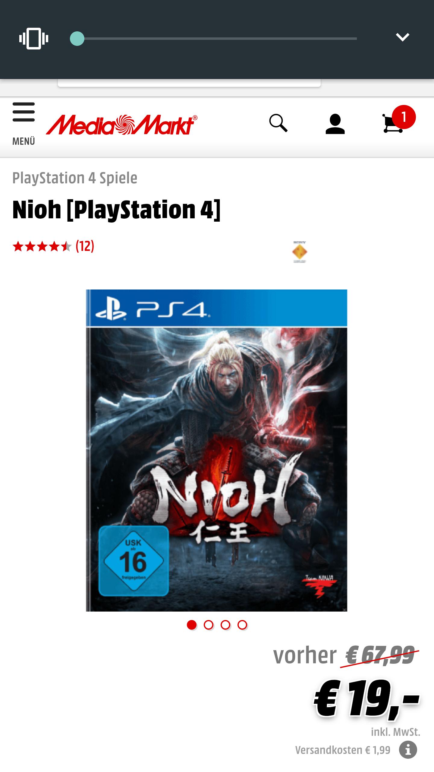 Media Markt Nioh PS4