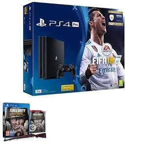 Playstation Pro + FIFA 18 + Call of Duty®: WWII für 340,19€ (Amazon.co.uk)