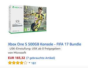 (Amazon Warehouse) Xbox One S mit 500GB und Fifa 17 ab 146,66€