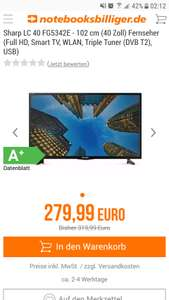"[Notebooksbilliger] Sharp LC40FG5342E 40""Zoll (102cm) Full HD/Smart TV/WLAN/DVB-T2/Trible Tuner"