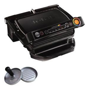 Tefal GC 7128.50M Optigrill+ Black Edition Kontaktgrill inkl. Burgerpresse