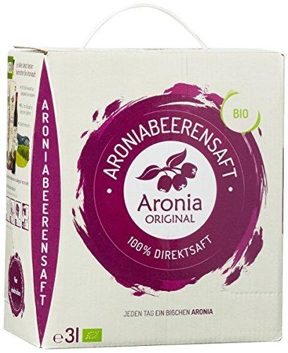 [Amazon Prime - Tagesangebot] 3 Liter Aronia Original 100% Bio Aronia-Muttersaft im Monatspack, 1er Pack zum Bestpreis