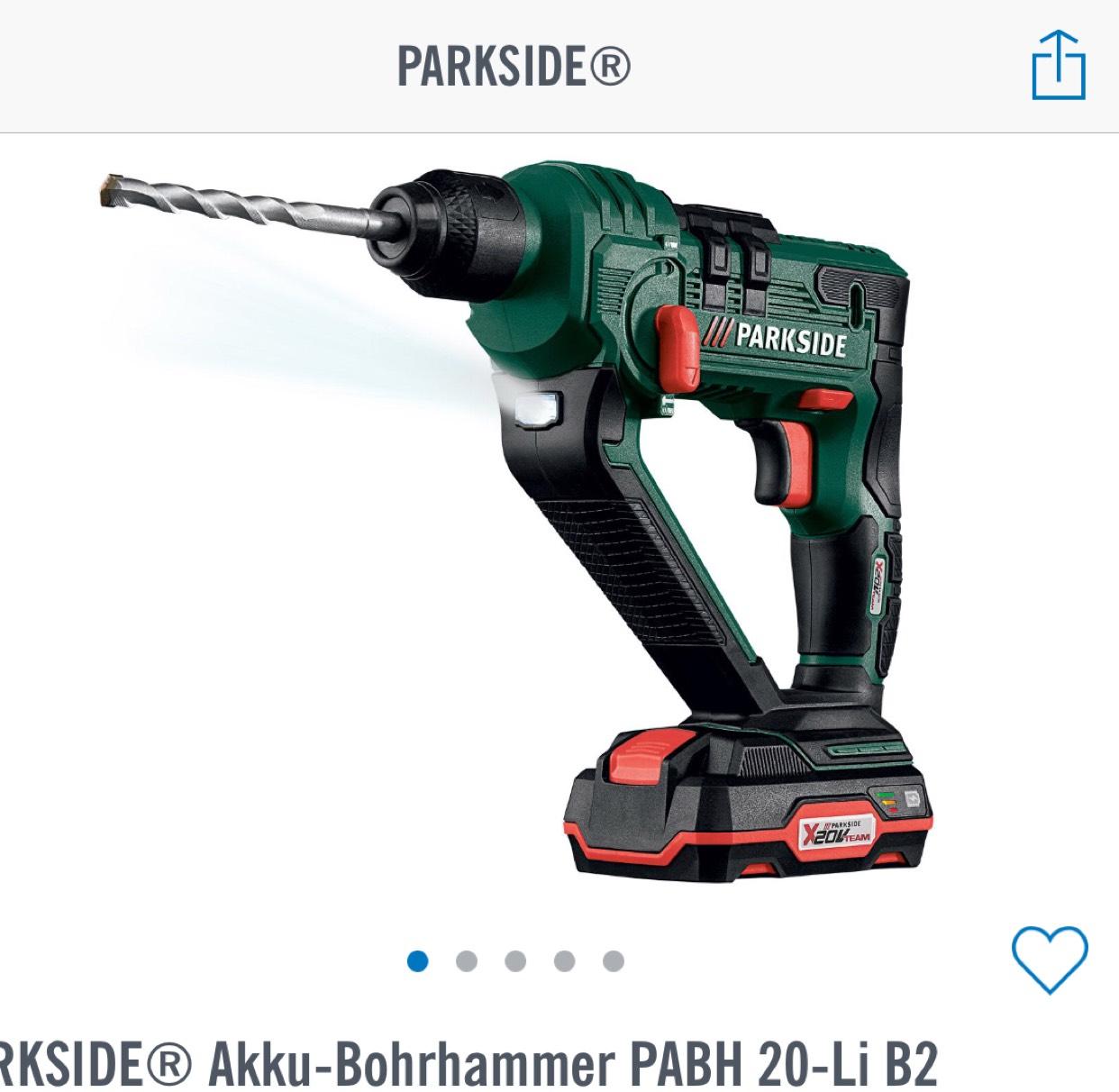 Lidl Crazy Deals PARKSIDE® Akku-Bohrhammer PABH 20-Li B2 mit Akku