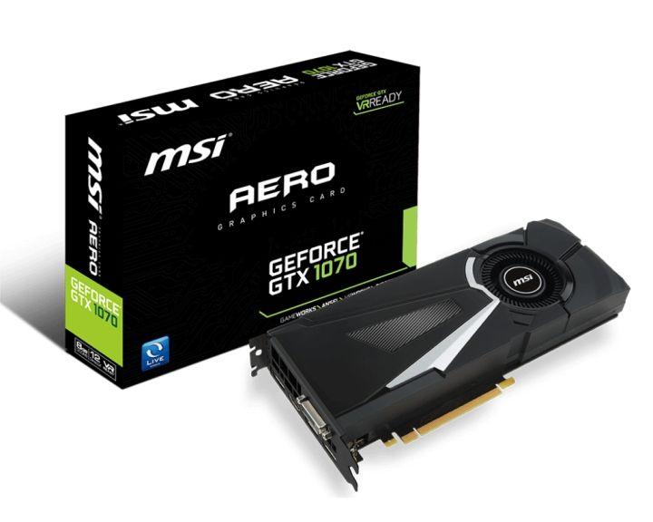 MSI GeForce GTX 1070 Aero 8G OC über ebay // ejoker