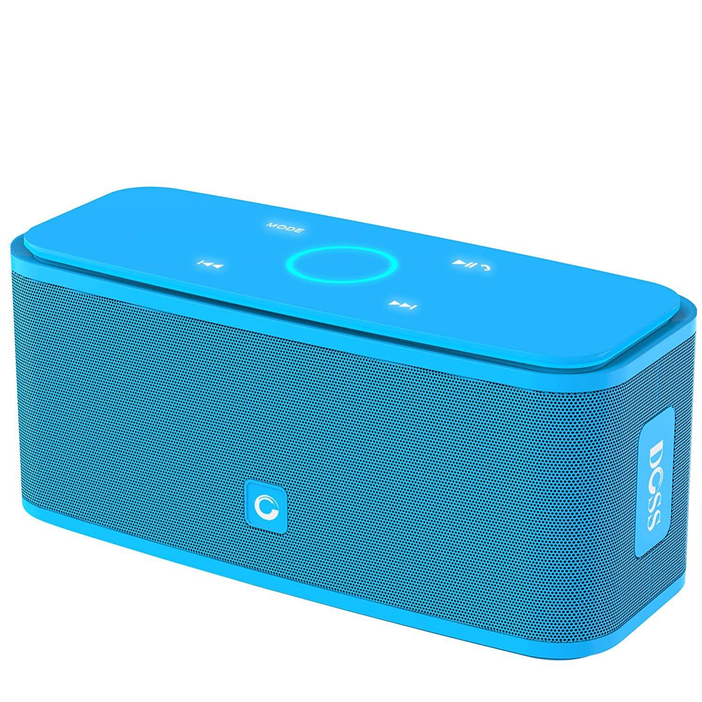 [Amazon.es] DOSS SoundBox, viele Farben Touch Bluetooth Lautsprecher Kabellose Portabler 12W Lautsprecher mit 12-Stunden Spielzeit & Dual-Treiber Wireless Speakers mit TF Karte, Mikrofon und Reinem Bass