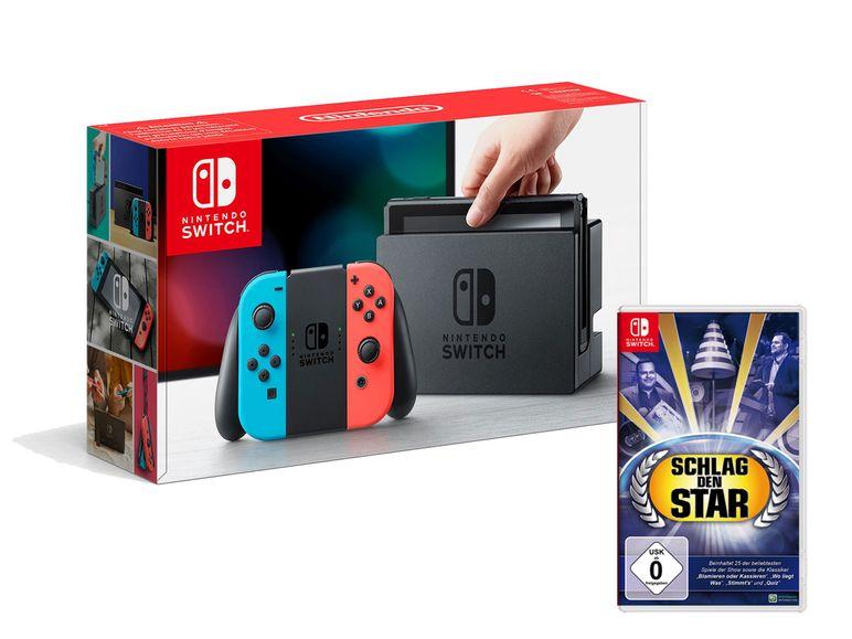 Nintendo Switch Rot/Blau mit Schlag den Star /LIDL Online für 301,05€ inkl. Versand