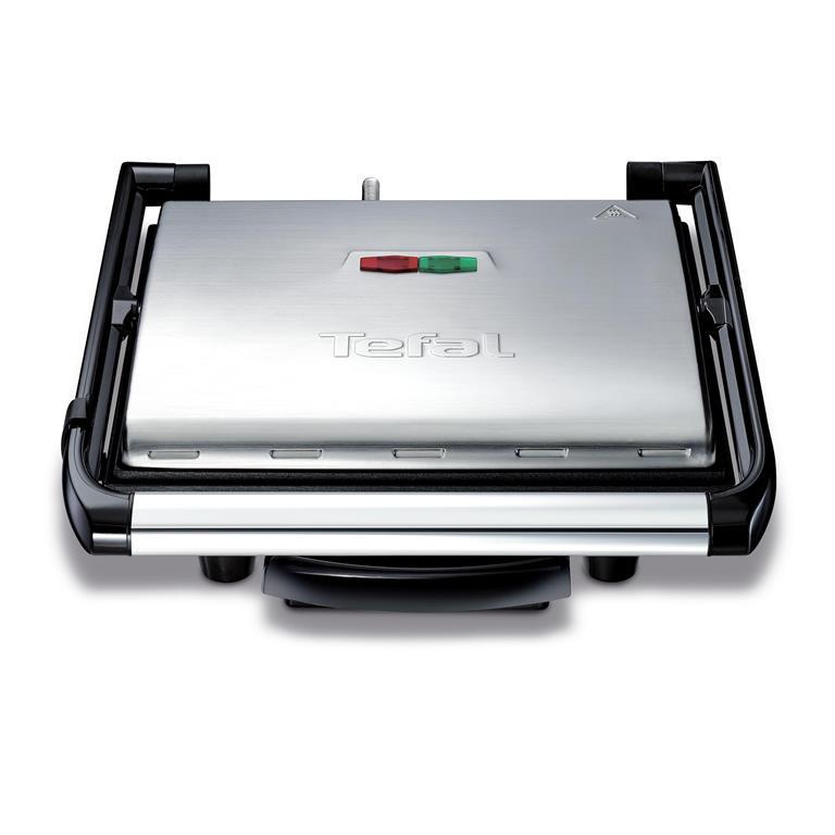 Tefal GC241D Kontaktgrill Inicio, integrierter Thermostat, 2000 W, edelstahl / schwarz für 43€ inkl. Versand