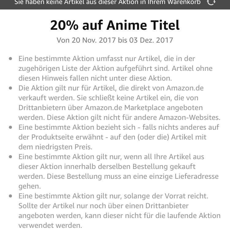 [amazon.de] 20% auf Anime bis 03.12.17
