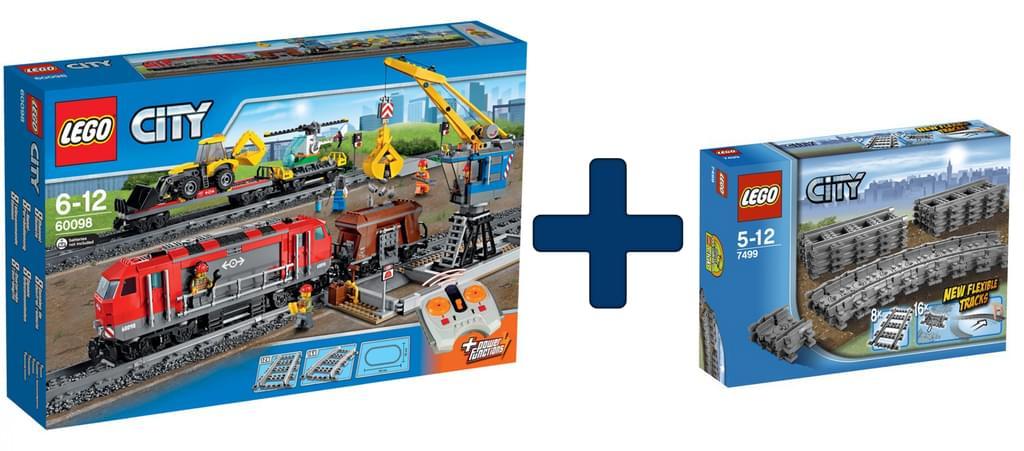 [Real] Lego City-Schwerlastzug + Lego City Flexible Schienen