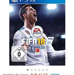 FIFA 18 PS4 bei Amazon + 1€ Gutschrift für Amazon Video