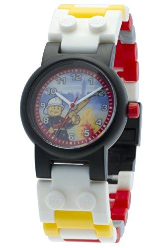 [Amazon] LEGO City Feuerwehrmann Kinder-Armbanduhr mit Minifigur und Gliederarmband zum Zusammenbauen oder Star Wars Luke Skywalker Uhr