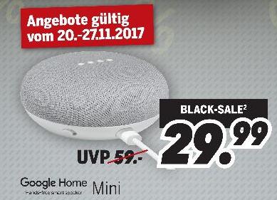 [MEDIMAX] ->Bundesweit<- Heute startet die Aktion // Google Home Mini für 29,99€