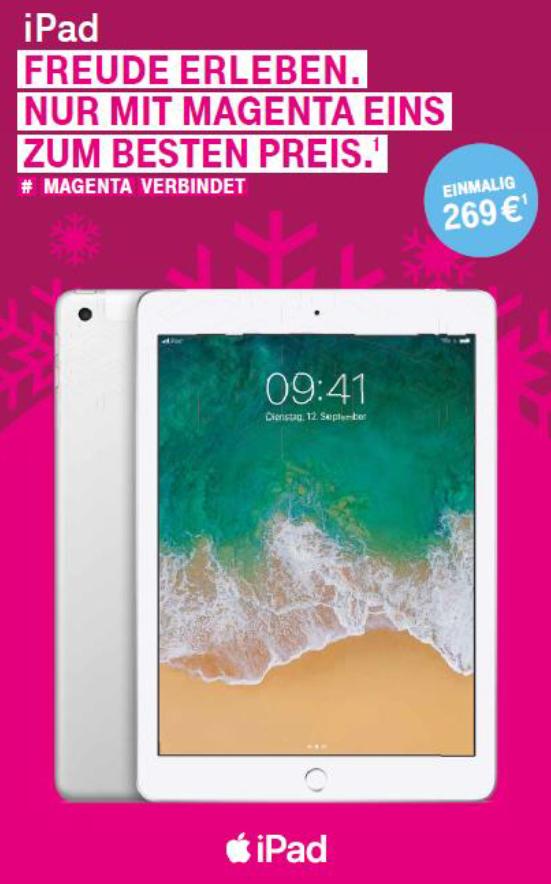 50% Aktion auf iPad für Magenta Eins Kunden bei Abschluss NeuVertrag oder FamilyCard