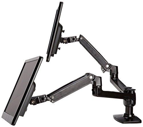 AmazonBasics Tischhalterung mit 2 Armen für 2 Monitore