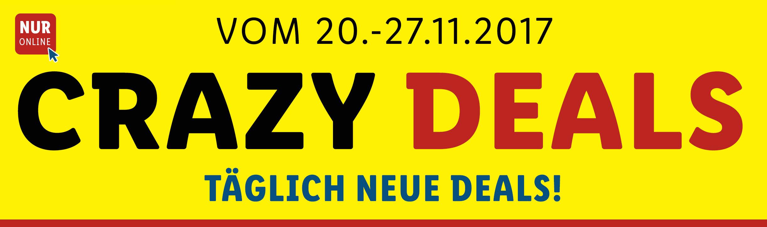 [LIDL online] LIDL Crazydeals vom 20.11.-27.11.2017, täglich neue Angebote und Rabatte