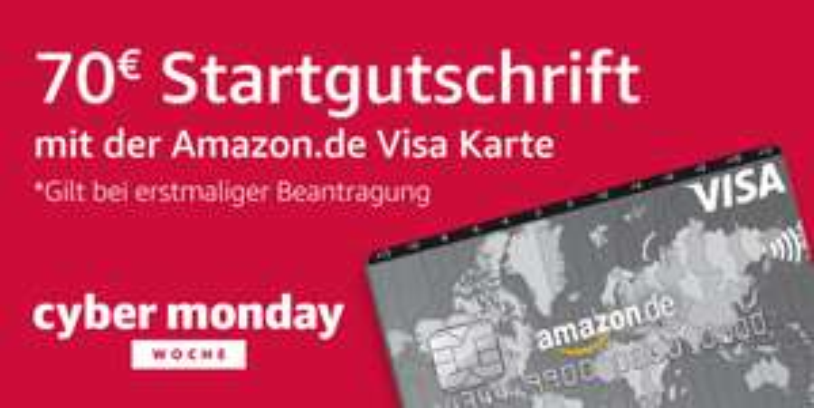 Amazon Kreditkarte mit 70 € Startguthaben für Neukunden