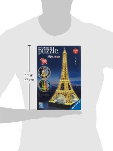 (Amazon Cyber Monday) Tagesangebot! Ravensburger Eiffelturm bei Nacht  Puzzle 3D-Puzzle-Bauwerk Night Edition