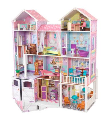 Kidkraft Puppenhaus Landgut - riesengroßes Spielhaus (119cm hoch und 134cm lang)