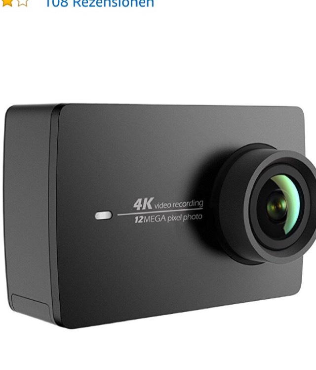 Yi 4K Action Cam für 134,99€ bei Amazon.de + BESTPREIS + (149,99€ mit wasserdichtem Case)
