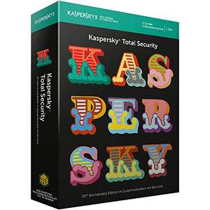 [Amazon] Kaspersky Total Security 2018 Standard, 5 Geräte, 1 Jahr, 20th Anniversary Edition, Windows/Mac/Android, Download