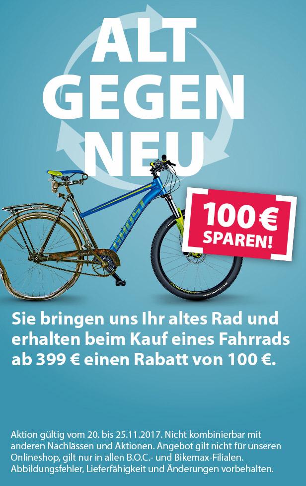 B.O.C - Alt gegen Neu - 100 € Sparen auf Fahrradkauf