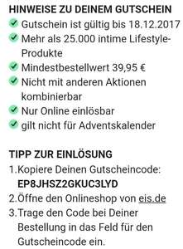 Eis.de 20€ Gutschein