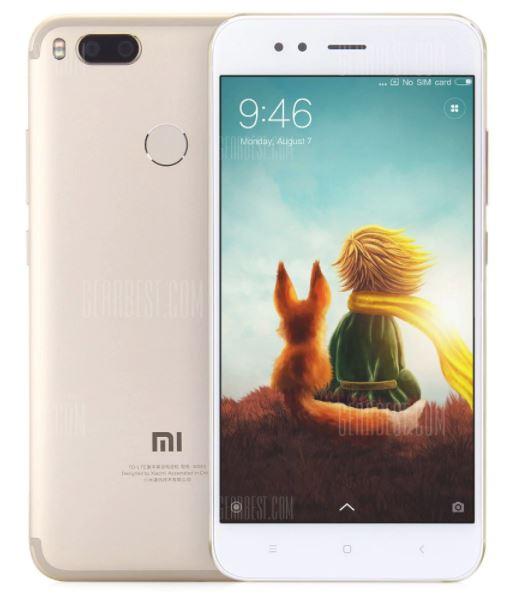 Xiaomi Mi A1 mit Band 20 in Gold (5,5 Zoll, Snapdragon 625 Octa Core, 4GB RAM, 64GB ROM) - Gearbest