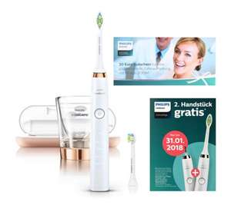 Philips Sonicare DiamondClean Schallzahnbürste mit Gutschein für 2. Handstück = 62,42€ pro Handstück + 4 gratis Bürstenköpfe