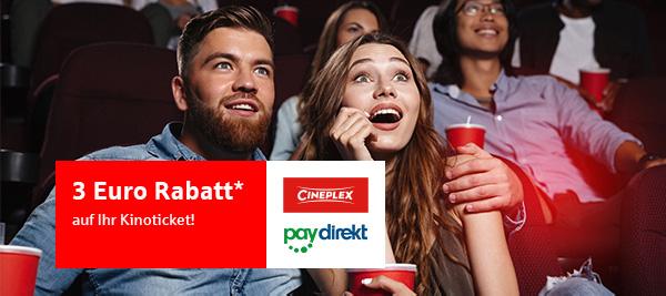 Cineplex-Gutschein bei paydirekt Zahlung von der Sparkasse