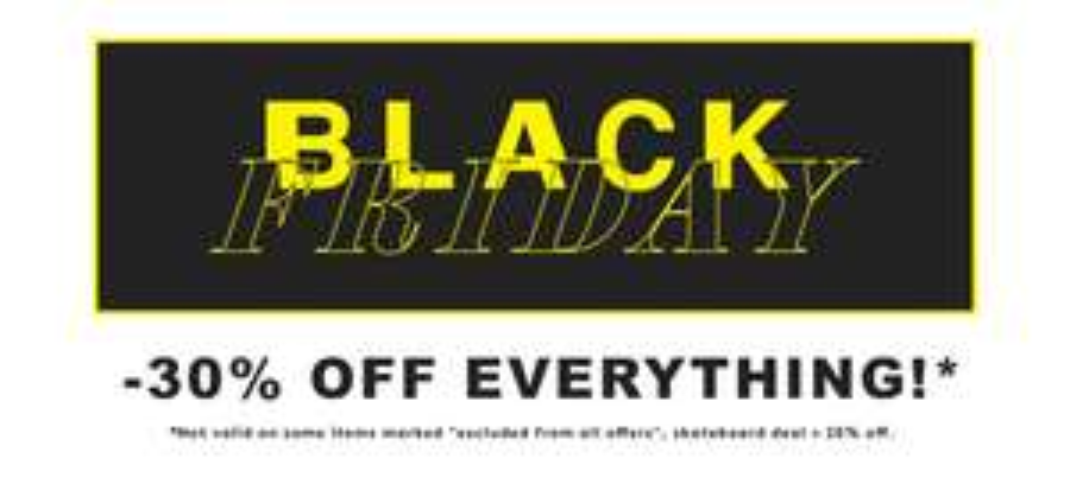 30% bei Caliroots - Black Friday