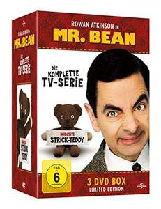 [Amazon] Mr. Bean - Die komplette TV-Serie (Limited Edition, inklusive Strick-Teddy, 3 Discs)