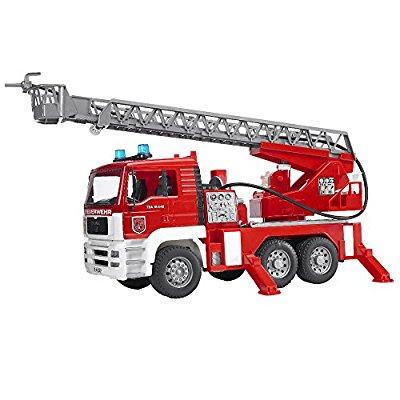 Bruder - MAN Feuerwehr mit Drehleiter, Wasserpumpe und Light & Sound Modul*prime*