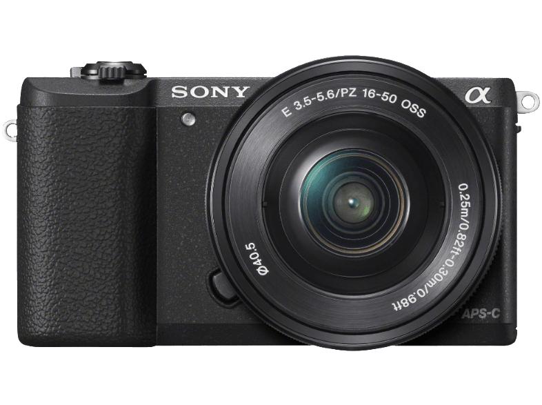 SONY Alpha 5100LB + 16-50mm Objektiv, Kompakt Systemkamera, DSLR, schwarz für 399€ [Saturn.at]