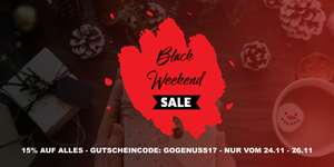 Black Weekend Sale - 15% auf Alles! - GenussHouse