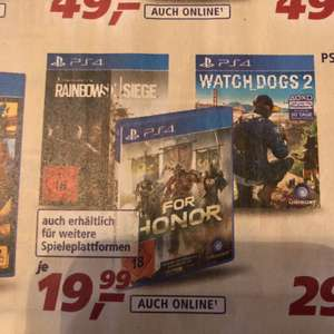 [Real Wiesbaden]For Honor, Watch Dogs 2 für 19,99€
