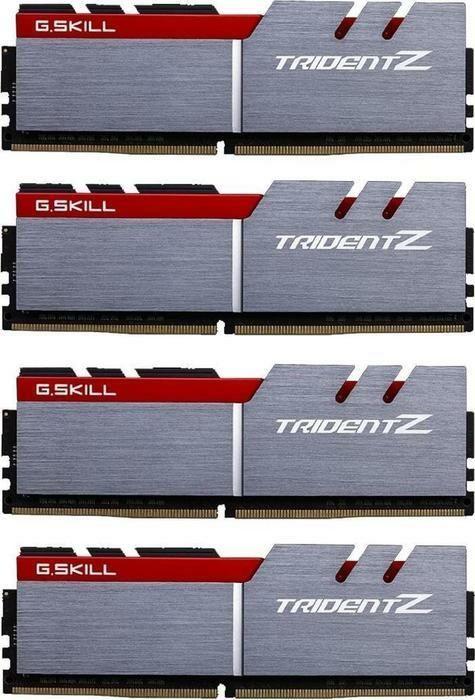 G.Skill Trident Z silber/rot DIMM Kit 32GB, DDR4-3600, CL17-18-18-38 (F4-3600C17Q-32GTZ)