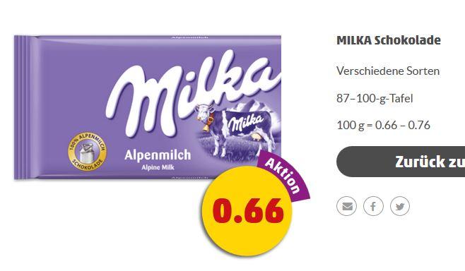 [Penny] Milka Schokolade 87-100g Tafeln für 0,66€